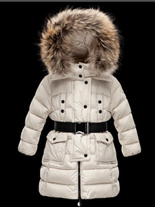 Ragazze / donne ragazzo del rivestimento 2019 bambini parka cappotto con cappuccio per le ragazze caldo di spessore Piumini Bambini Cappuccio reale al 100% di inverno della pelliccia cappotti