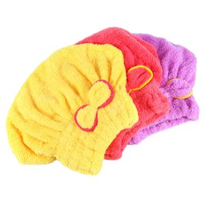 Quick Hair Drying Cap Hat Microfiber Ultra Absorbent Hair Dry Wrap Cap Fast Drier Hair towel Tower Hat For Bath 3 Colors