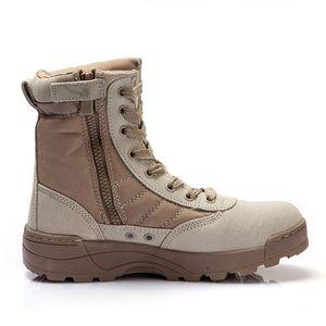 Venta caliente-Nuevos hombres Tactical Military Desert Combat Boots Zapatillas transpirables al aire libre Zapatillas deportivas Trekking Fitness Zapatos de entrenamiento cruzado