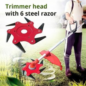 1 PZ 6 Denti Decespugliatore Lama Decespugliatore Lame di Metallo Trimmer Testa Garden Grass Trimmer Testa Per Lawn Mower