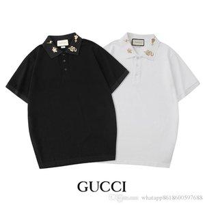 2020 La nouvelle Mens de luxe de Polos été entreprise Polos Baissez col T-shirts Tops