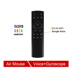 Клавиатура G20 Voice Control 2.4G беспроводной G20S Fly Air Mouse Motion Sensing Mini Remote Control для Android TV Box PC