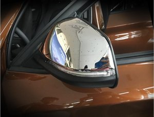 X1의 F48 2016 2017 미러 / 물질 ABS 크롬 플라스틱 사이드 도어 리어 뷰 미러 커버 캡 트림 2 개를 들어