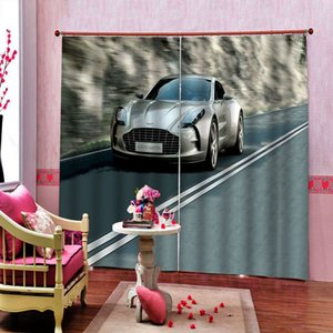 European Style 3D Curtain car Living Room Room Bedroom Photo cortina blackout Room Curtains