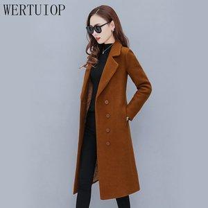 WERTUIOP Mulheres Casaco De Lã 2019 Nova Moda Casacos de Inverno Longo Além de Algodão Espessamento Jaqueta De Lã Feminino Outerwear Roupas
