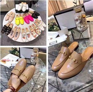 Marca Nueva llegada caliente de diseño marrón caqui mulas cuero holgazanes de los hombres de las mujeres del tamaño buenas zapatillas de promoción de retroalimentación zapatos Pricetown EUR34-46