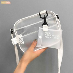 2020 New Causual Pvc Transparent Clear Woman Crossbody Bags Shoulder Bag Jelly Small Phone Bags Holder Wide Straps Flap