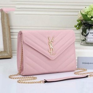 New Crossbody Metal Letter Front Designer Handbags PursesYSLWomen Meessnger Bag Pu Leather Shoulder Bags
