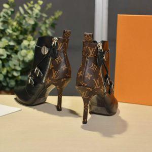 Женские пинетки высокого класса на заказ высокие каблуки 35-41 дизайнер классический горячий стиль мартин сапоги продвижение производителей (с коробкой)