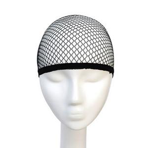 Filets invisibles cheveux en nylon avec élastique Femmes Hommes Femmes Perruques Bas Cap Weaving Mesh Net Fishnet Beige Noir 20 pcs navire libre