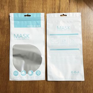 Free Shipping Self-proclaimed Face Mask Package Bag for Disposable Masks KN95 Facemask Mylar Bags Smell Proof Protective Packing Bags D0803