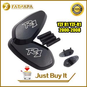 Accessoires moto Livraison gratuite CNC Aluminium R1 miroir de base Plaques pour Yamaha YZF R1 YZF-R1 2000-2008 01 02 03 04 05 06 07