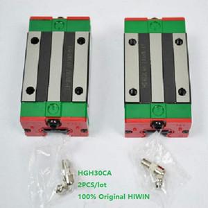 2 adet / grup Orijinal Yeni HIWIN HGH30CA lineer kılavuz rayı CNC router için doğrusal dar bloklar