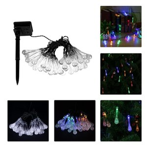 LED Christmas Decoration Halloween Wedding Decoration Lamp Water-drop Solar Energy Lamp String Indoor and Outdoor Garden Light