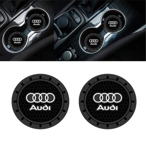 2 Pcs Car Interior Acessórios Anti Slip Copa Mats Inserir Coaster 2,75 polegadas para Audi A3 S3 RS3 A4 S4 A5 A6 S6 A7 S7 RS7 A8 Q3 Q5 Q7 Q8