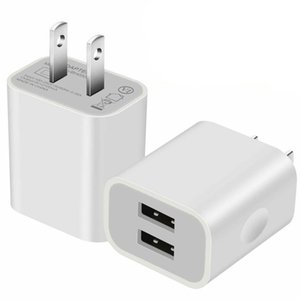 USB Charger, carica di blocco, 2.1A corsa della casa Doppio USB Wall Charger Multi per Tutti smart phone