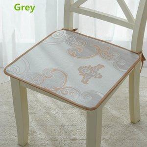 Summer Ice Silk Chair Fabric Coussin frais et respirant Fibre Mat Pat Coussin de siège Ordinateur de Bureau Chaise de salle