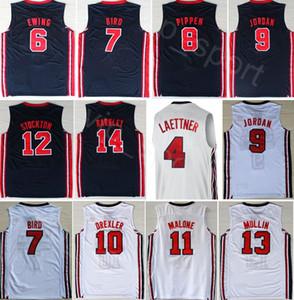 1992 Equipo Uno de Baloncesto 12 de John Stockton Jersey 9 4 Michael Christian Laettner Karl Malone, Chris Mullin, Johnson, Larry Bird, Scottie Pippen