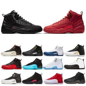 Winterized Ginásio Vermelho 12 12 s Mens Sapatos de Basquete Faculdade Asas Da Marinha Preto CNY Bulls Universidade Azul homens Esporte Tênis Tamanho 7-13