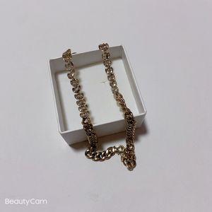 Хорошие вещи Классического ожерелье символ D с подарочной коробкой, для коллекции дамы роскошного дизайна замка цепи модных ювелирных аксессуаров