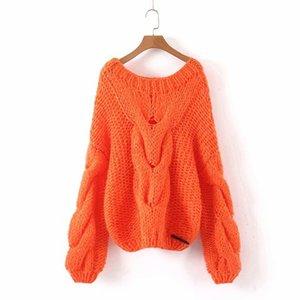 Woah 2019 Linjia 118-9113 европейской и американской моды вязаные свитера из мохера