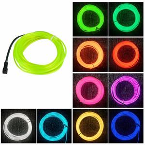 1-5 Metre Şerit LED Işık Powered Bir Bisiklet Pil için Neon Işık EL Tel 3 Modları neon Bant Araba Bisiklet Giyim Dekor uygula