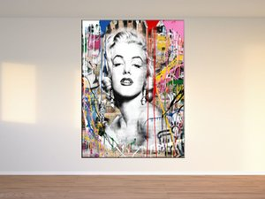 Marilyn Monroe Black and White , Canvas Pieces Home Decor HD Printed Modern Art Painting on Canvas (Unframed Framed)