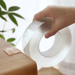 Cinta transparente Magic Tape Nano reutilizable lavable de doble cara adhesiva Nano-No Trace Pegar extraíble pegamento lavable hogar