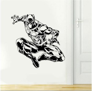 Superhero Black Panther parete adesivi in ​​vinile Home Decor per Bambini Ragazzi da letto Teens Dormitorio decalcomanie Interior Design Murales