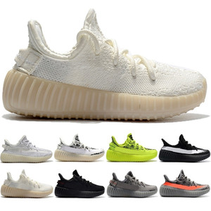 Zapatilla de deporte de las mujeres de los hombres de los zapatos corrientes de los niños Los niños Yougth Kanye West Negro estático reflectante arcilla hiperespacio Sport Shoe Size envío gratis