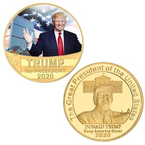 Trump 2020 Collection Gold Coins Crafts Trump Speech Commemorative Coin America President Trump Keep America Great Coins DHF193