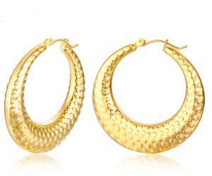 2020 heißes Verkauf eines Paar aus Edelstahl arbeiten Goldband-Ohrringe für Frauen Dame Partei Schmuck bling Ehefrau Geschenk .mother Geschenk