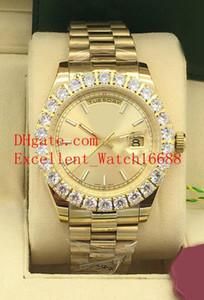 5 The New Hot buy Mens Relógios 43 milímetros 228238 128348 228398 Dia Data 18k Amarelo Presidente moldura de ouro diamante Asia 2813 Movimento automático
