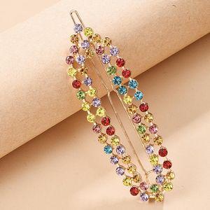 Pearl Rhinestone Hair Clips for Women Girls Headwear Colorful Crystal Barrette Hair Pins Sweet Fashion Jewelry For Ladies