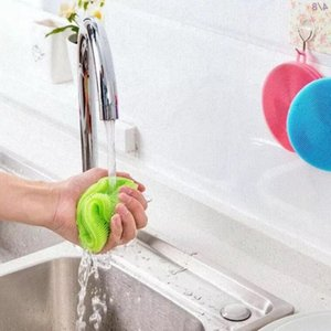 Silicone Dish bacia Escovas de limpeza Multi-fonction Magia Esfregão Pot Pan Wash Brushes Cleaner Acessórios de cozinha LXL1115-1