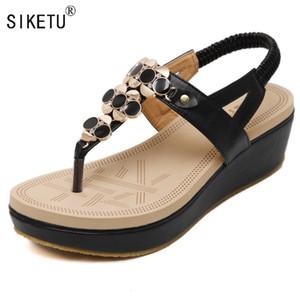 Verão confortável Sandals Mulheres Platform Sandals Moda Flip Flops Sapatos Mulher Sandálias 35-40 SIKETU Marca
