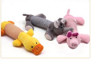 Sevimli Köpek Oyuncak Pet Güzel Pet Oyuncaklar Köpek Peluş Ses Chew Squeaker Cızırtılı Domuz Fil Ördek Oyuncaklar Quickily Teslimat