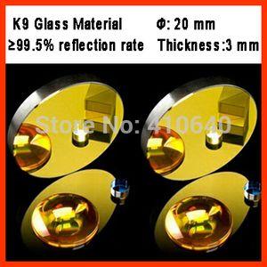 1 Stück Durchmesser 20 mm K9 CO2 Spiegelglas mit goldener Beschichtung für Lasergravurschneidanlage