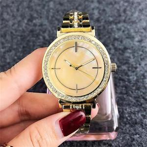 2020 Fashion Lady Dress Watches Luxury Diamond Dial Quartz Steel metal band orologi al quarzo di lusso delle donne guarda il trasporto libero all'ingrosso