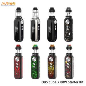 Cubo OBS Kit X 80 W Alimentado por Único 18650 Bateria Com 4 ml Cube X Tanque De Malha V OBS Cubo Mini 100% Original