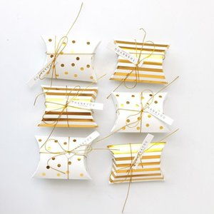 DIY que broncea la almohada favor de partido de la boda caja de regalo del favor del caramelo del regalo cajas de papel caja de regalo bolsas de suministro