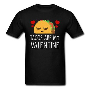 Tacos Lover Valentine Shirt Men Cute T Shirt Estate No Fade Abbigliamento Cartoon T-shirt manica corta in cotone Tops Tees