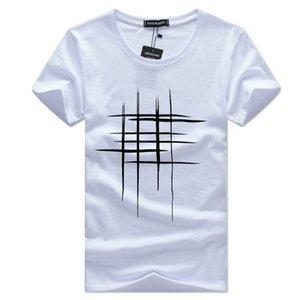 2017 Nouveau style européen et américain de style Supply taille plus bas manches courtes T-shirt Top manches courtes Homme Tic Tac Toe