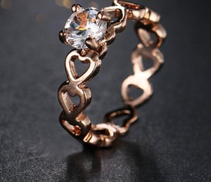 2020 Love Openwork Heart Stackable Finger Ring for Women Engagement & Wedding Jewelry