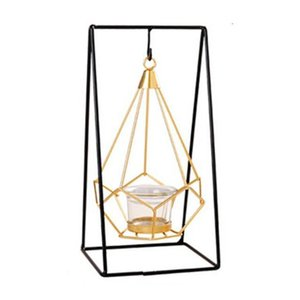 Originality Romantic Dinner Candle Holders Geometric Candlestick Iron Candle Holder for Wedding Party Home Decor Accessories