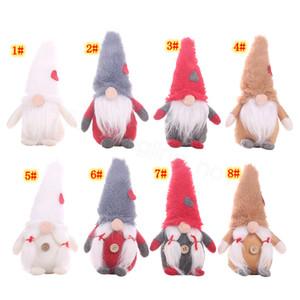 8styles Natal Gnome Plush Toy Xmas Scandinavian boneca Nordic Home Decor ornamento brinquedo sem cara da boneca de presente fontes do partido adereços FFA3125