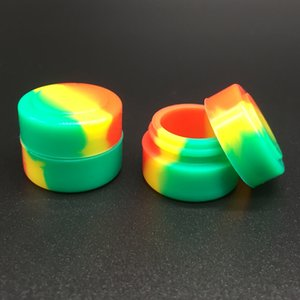 Wholesale 1000 Pcs lot Round Silicone Wax Dab Container 2 Ml Non-stick Silicon Dry Herb Dabber Tool Box Free Shipping