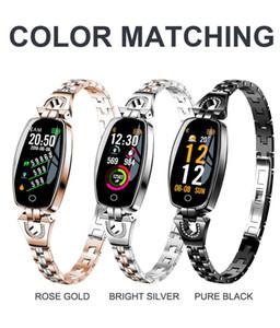Valentinstag Geschenk H8 Smart Bluetooth Armband Damen Gesundheit Mode Armband Schmuck Uhr Herzfrequenz Blutdruckmessgerät Sport Ste