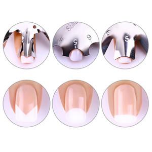 Nail Art Outils En Acier Inoxydable Coupe-Ongles Coupe-Ongles Coupe-Ongles Gel Facile Français Simile Cut Line Outils