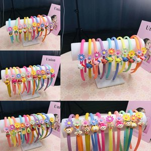 Frosted children's Accessories hipster candy color cartoon hair band acrylic plastic hair band children's accessories